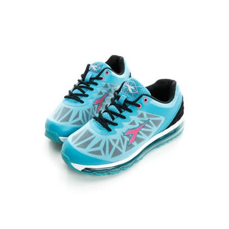DIADORA (女) 氣墊慢跑鞋 藍白黑DA5AWR2666