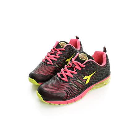 DIADORA (女) 氣墊慢跑鞋 黑粉DA5AWR2792