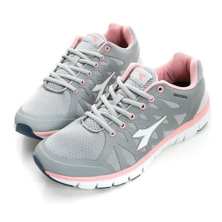 DIADORA (女) 慢跑鞋 灰粉DA6AWR9838