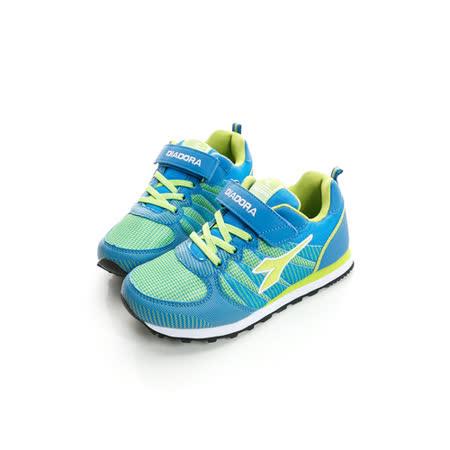 DIADORA (童)舒適休閒鞋 藍綠DA5AKR2316