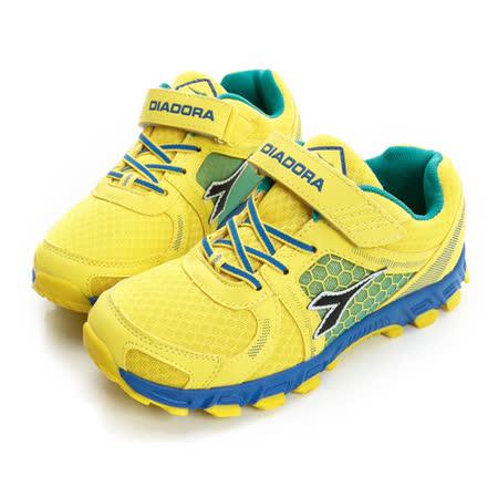 DIADORA (童)越野慢跑鞋 黃藍DA5AKR2593