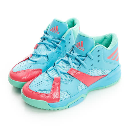 adidas(男) 高筒透氣籃球鞋 藍AQ8502