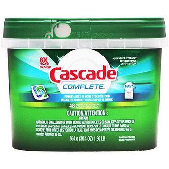 美國 Cascade 洗碗機專用-強效洗碗碇48入(盒裝深綠) 864g/30.4oz