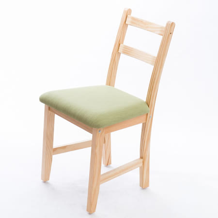 [自然行]- Reykjavik北歐木作椅(扁柏自然色)抹茶綠椅墊