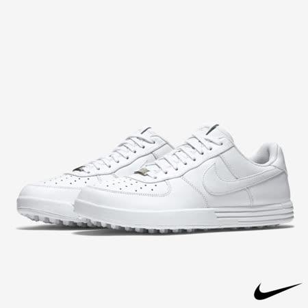 NIKE LUNAR FORCE 1 G 男子休閒運動高爾夫球鞋(白)818726-100