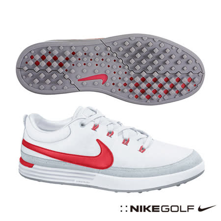Nike Golf LUNAR WAVERLY 男高爾夫球鞋(白)652781-100