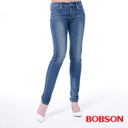 BOBSON  女款低腰有機棉小直筒褲(8129-53)