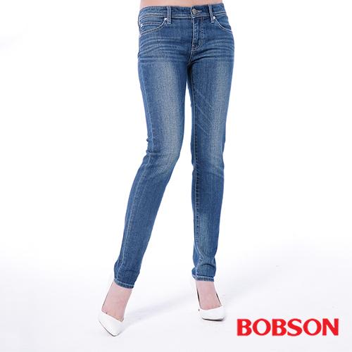 BOBSON 女款低腰有機棉小直筒褲^(8129~53^)