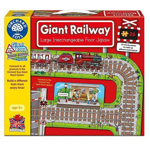 ~英國Orchard Toys~遊戲拼圖~鐵道組