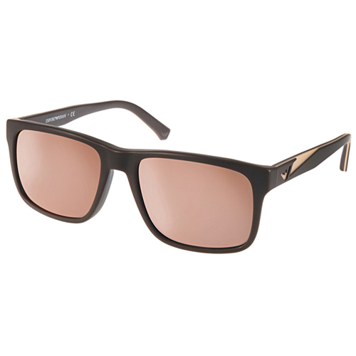 EMPORIO ARMANI太陽眼鏡 率性水銀鏡面款 ^(咖啡^) ^#EA4071F 5