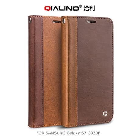 QIALINO SAMSUNG Galaxy S7 G930F 西部牛仔皮套