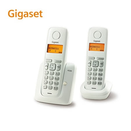 『Gigaset』☆ 德國數位子母型無線電話機 A220DUO