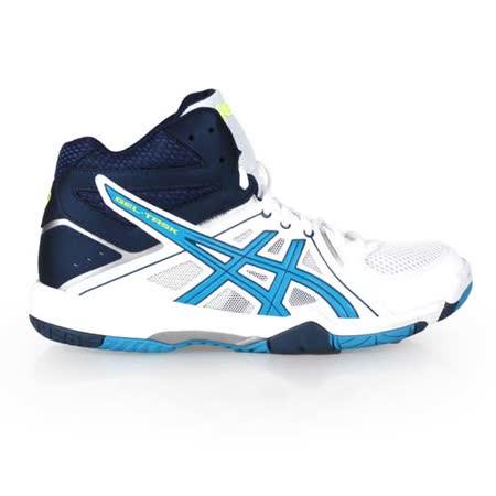 (男) ASICS GEL-TASK MT 排羽球鞋- 羽毛球 排球 白黃湖水藍