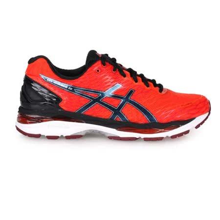 【開箱心得分享】gohappy(男) ASICS GEL-NIMBUS 18慢跑鞋 - 路跑 健身 亞瑟士 橘紅黑評價如何遠東 百貨 台南
