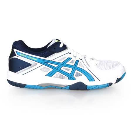(男) ASICS GEL-TASK 排球鞋-羽球鞋 運動 戶外 亞瑟士 白黃湖水藍