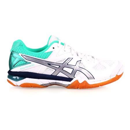 (女) ASICS GEL-TACTIC 排羽球鞋-羽毛球 排球 亞瑟士 白綠銀