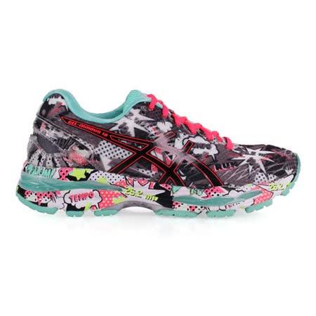 【好物分享】gohappy快樂購物網(女) ASICS GEL-NIMBUS 18 慢跑鞋-路跑 健身 亞瑟士 灰湖水綠價格g0 happy