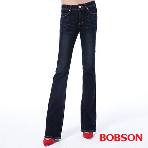 BOBSON 女款保暖布小喇叭褲 ^(9090~53^)