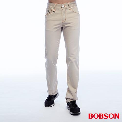 BOBSON  男款刷色半舊直筒褲^(1788~70^)