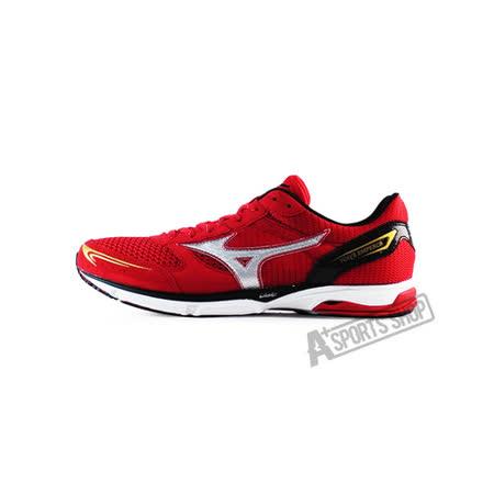 MIZUNO (男)男路跑鞋 WAVE EMPEROR WIDE 紅-J1GA167701