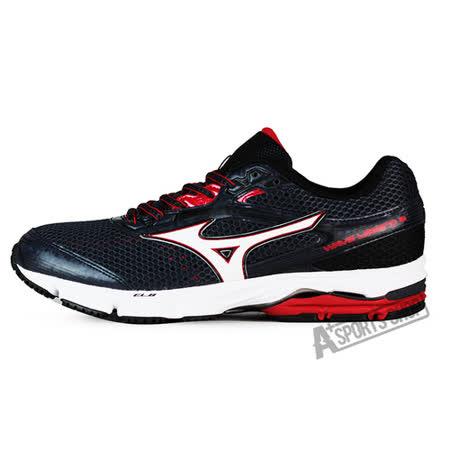 MIZUNO (男) WAVE 男慢跑鞋 WAVE LEGEND 3 黑紅-J1GC151001