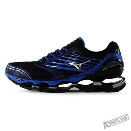 MIZUNO (男) WAVE 男慢跑鞋WAVE PROPHECY 5 藍-J1GC160004