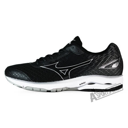 MIZUNO (男) WAVE 男慢跑鞋 WAVE RIDER 19 黑-J1GC160311