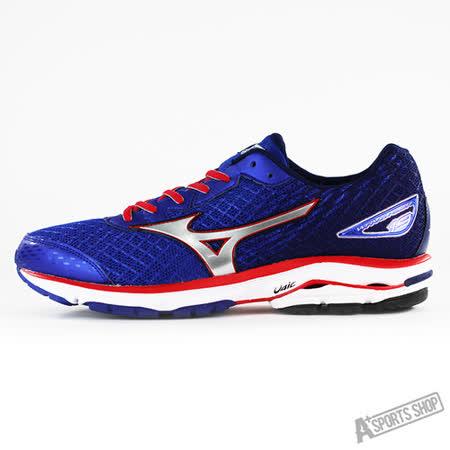 MIZUNO (男) WAVE 男慢跑鞋 WAVE RIDER 19 SW 藍-J1GC160491