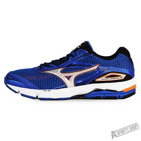 MIZUNO (男) Wave 男慢跑鞋WAVE LEGEND 4 深藍-J1GC161003