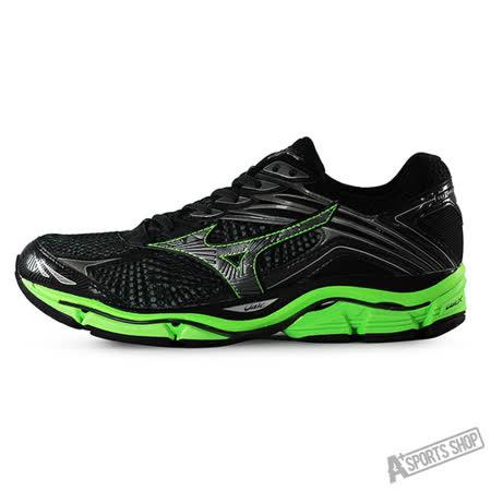 MIZUNO (男) WAVE 男慢跑鞋WAVE ENIGMA 6 黑綠-J1GC161152
