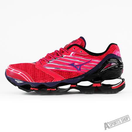 MIZUNO (女) WAVE 女慢跑鞋WAVE PROPHECY 5 (W) 紅黑-J1GD160067