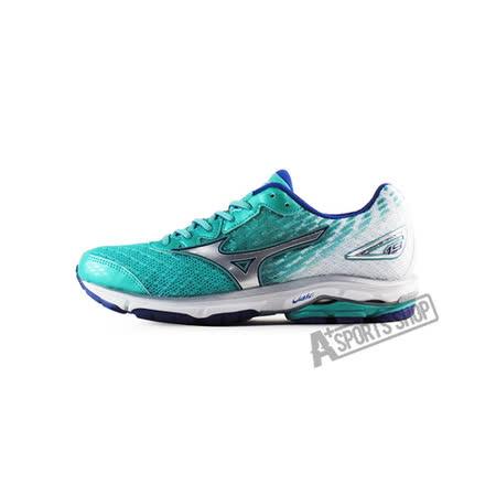 MIZUNO (女) WAVE 女慢跑鞋 WAVE RIDER 19 (W) 藍-J1GD160304