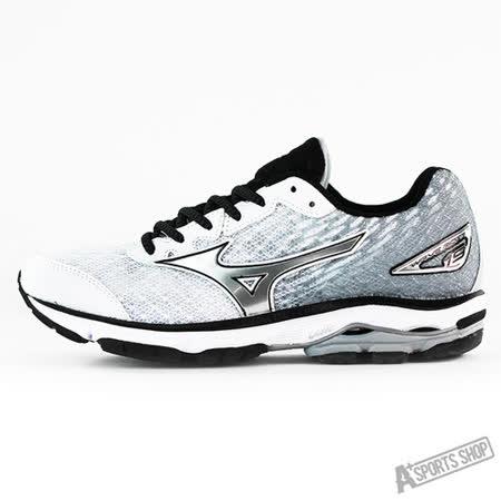 MIZUNO (女) WAVE 女慢跑鞋WAVE RIDER 19 (W) 漸層白-J1GD160307