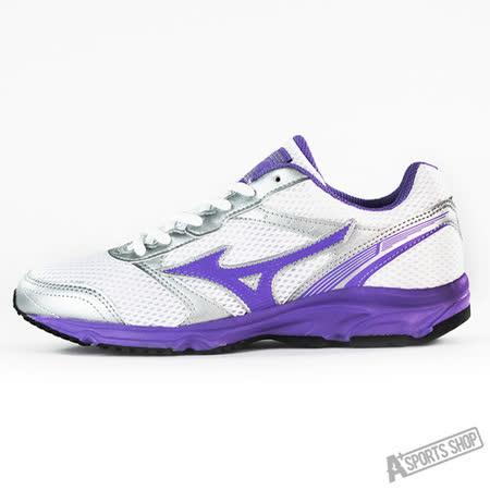 MIZUNO (女) 女慢跑鞋MAXIMIZER 18 (W) 白紫-K1GA161360