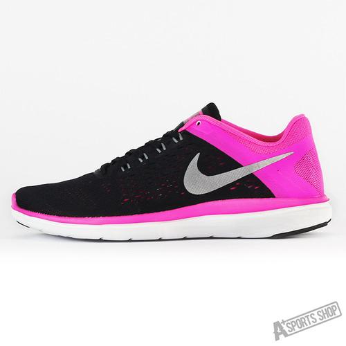 NIKE ^(女^) WMNS NIKE FLEX 2016 RN 慢跑鞋 黑粉紅~830