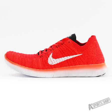 NIKE (男) NIKE FREE RN FLYKNIT 慢跑鞋  紅-831069601