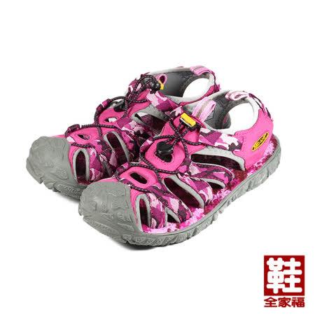 (女) RED ANT 護趾海灘涼鞋 粉 鞋全家福