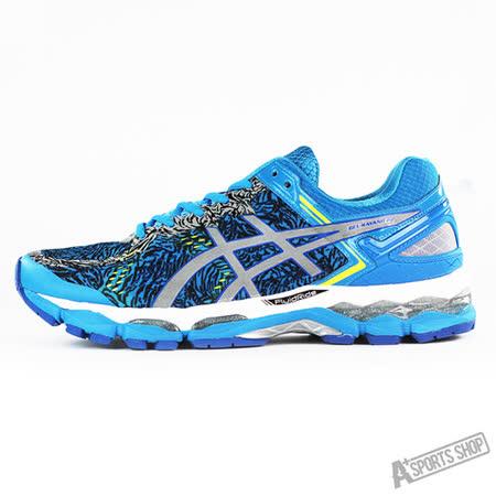 ASICS 男 GEL-KAYANO 22 LITE-SHOW 慢跑鞋 藍-T5A1Q4193