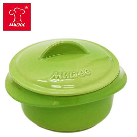 【MULTEE摩堤_鑄鐵鍋系列】10cm迷你陶瓷鍋(蘋果綠)