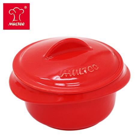 【MULTEE摩堤_鑄鐵鍋系列】10cm迷你陶瓷鍋(紅色)