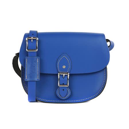 【The Leather Satchel Co.】英國原裝手工牛皮馬鞍包 肩背 側背手拿包 精湛工藝 新款磁釦設計方便開啟(牛津藍)