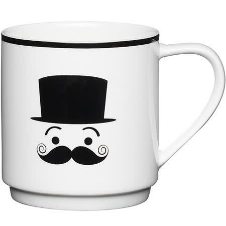 《KitchenCraft》黑鬍子紳士馬克杯(害羞)