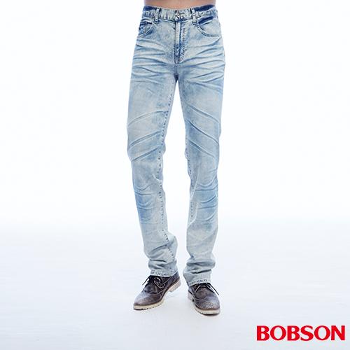 BOBSON 男款低腰壓摺直筒褲 ^(1808~58^)