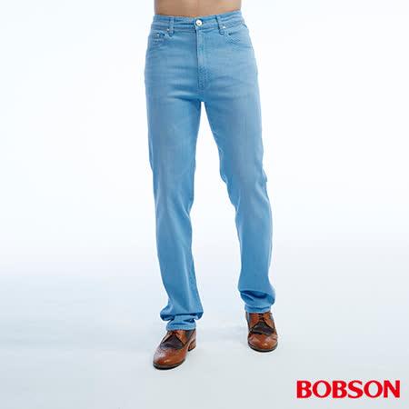 BOBSON   男款高腰彈性直筒褲 (1810-58)