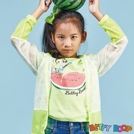 【Betty Boop貝蒂】西瓜彩圖公主袖棉質T恤(共三色)