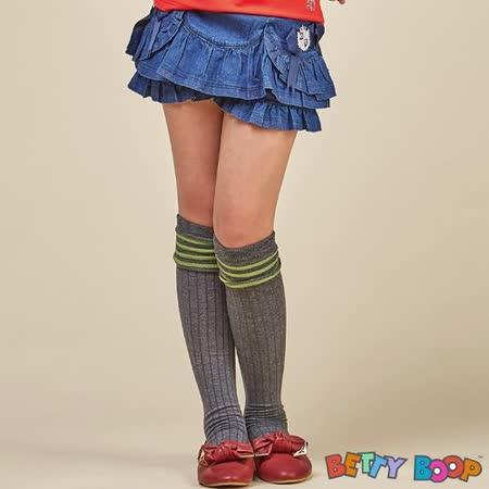 【Betty Boop貝蒂】荷葉邊蝴蝶結蛋糕褲裙(藍色)