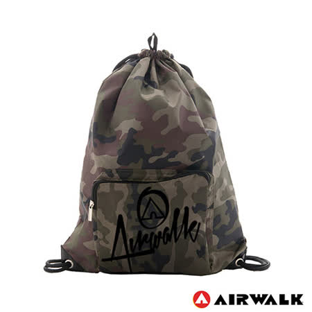 AIRWALK - 第二代束口袋 - 綠迷彩