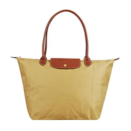 Longchamp 經典摺疊款式長提把水餃包(茴香/大)