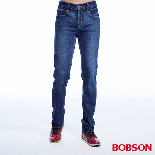 BOBSON  男款低腰異素材直筒褲  ^(1814~53^)