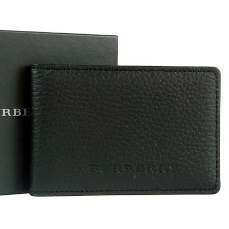 BURBERRY 日系黑標超質感卡片夾(透明夾層/黑)